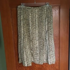 Talbots print silk skirt